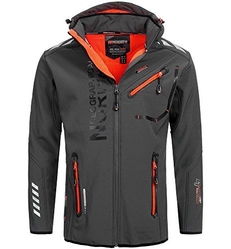93J1 Amazon II Geographical Norway Rainman Herren Softshell Grau Gr. L