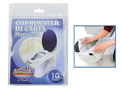 Vetrineinrete® 30 copri water di carta usa e getta carta monouso per wc da viaggio protezione igienica toilette a22