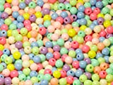 Acryl Perlen Spacer Beads 6mm Multicolor Mix Schmuckperlen Kinderperlen Bastelperlen 100 Stück
