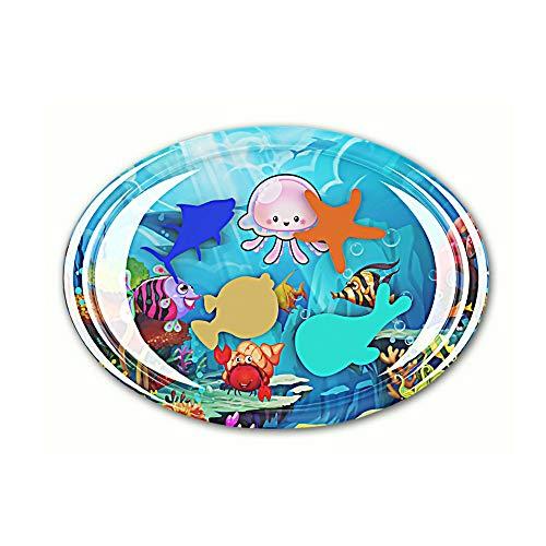 TPulling Oval Aufblasbares Babywasserkissen Badespielzeug Babykleidung Wassermatte Spaß (Farbe, Einheitsgröße)