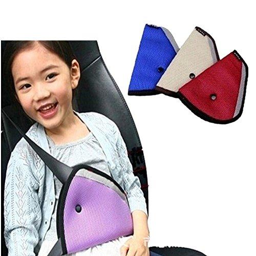 SwirlColor 3 Stück Kinder-Auto-Auto-Sicherheits-Sicherheitsgurt Teller Kleinkind Kind-Sicherheitsgurt-Einstellung