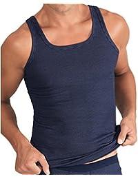 5 x  ESGE Sportjacke Unterhemd Feinripp Ringel schwarz Gr 6 ohne Seitennaht