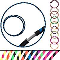 Echo Hoops Plegable Travel Hula Hoop - Varias Opciones de Color (Azul/ Negro)
