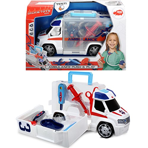 Auto-doktor (33cm Rettungsfahrzeug und Arztkoffer in einem, mit Licht und Sound: Rettungswagen Doktor Koffer Auto Spielzeug Krankenwagen)