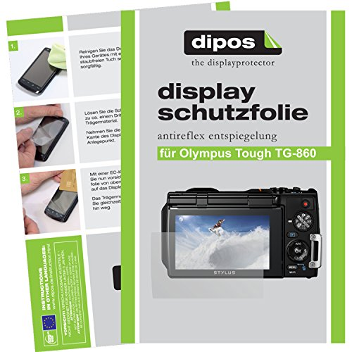 dipos I 6X Schutzfolie matt passend für Olympus Tough TG-860 Folie Displayschutzfolie (Kamera Olympus Tough 3000)