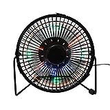 Contador LED programable Mensajes DIY ventilador de refrigeración, Desk USB LED reloj Ventilador (mrf-002), negro, 6inch