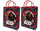 2x Star Wars Kylo Ren Beutel Tasche Umschlag Geschenk aus Kunststoff transparent L 32x 26cm Gift Bag