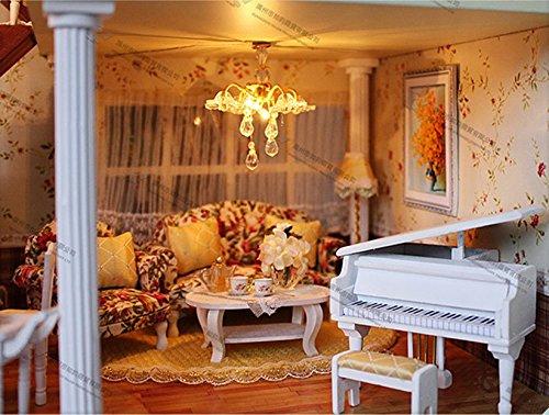 Mobili Per Casa Delle Bambole Fai Da Te : Casa delle bambole in miniatura misura grande con mobili in legno