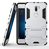 Xiaomi Mi 5S Plus Cover DWaybox 2 in 1 Hybrid Heavy Duty Armor Hard Back Custodia Cover with kickstand per Xiaomi Mi 5S Plus / Mi5S Plus 5.7 Inch (Silver)