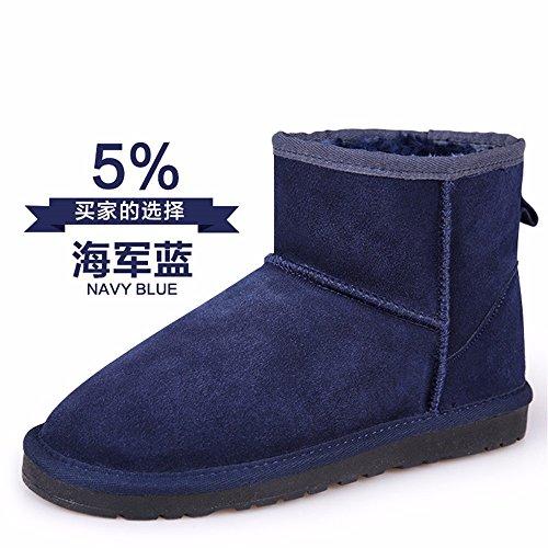 FLYRCX MS tubo corto anti-skid stivali in autunno e in inverno con calda pelle cashmere scarpe piatte F