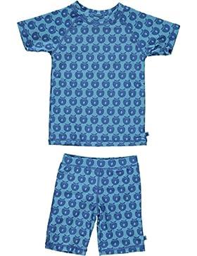Smafolk UV Schutz Badeanzug 2 teilig blau