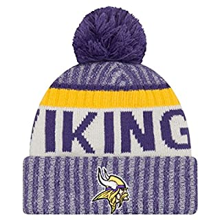 Minnesota Vikings New Era 2017 NFL Sideline On Field Sport Knit Hat Hut - Purple
