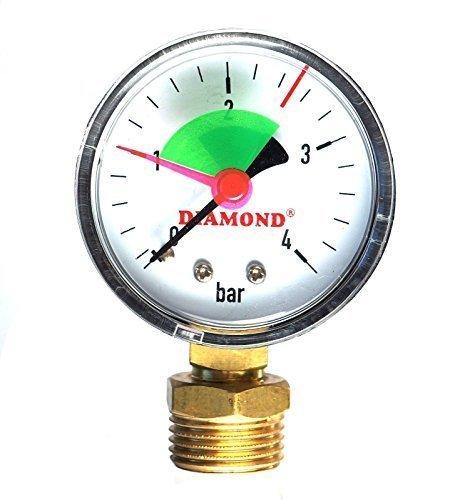 """INDUSTRIAL 50mm Hidráulico Medidor de presión Manómetro 4 bar 1/2 """""""
