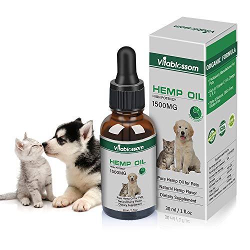 Bio-tier (Hanföl für Hunde, Bio-Hanföl für Haustiere, Hanföl für Pats, Ideal zur Linderung von Angstzuständen bei Hunden und Katzen. Unterstützt die Gesundheit von Hüfte und Gelenken. Schmerzlinderung (1500mg))