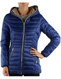 GG Ladies Womens Quilted Padded Puffer Bubble Down Feel Hooded Jacket Coat
