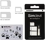 MediaDevil Simdevil 5-in-1 SIM Card Adapter Kit (Nano / Micro / Standard)