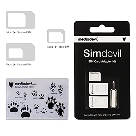 MediaDevil Simdevil 3-in-1 SIM-Karten Adapter Set