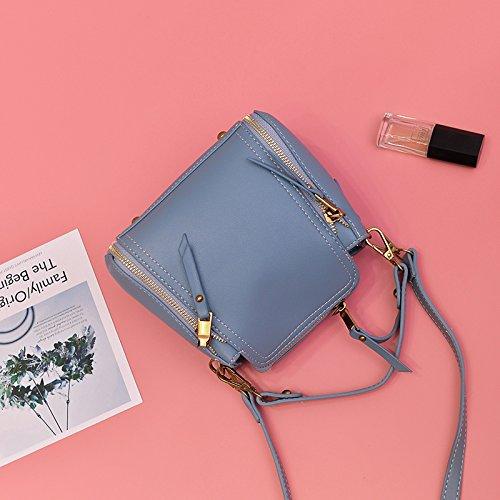 Pacchetto CengBao donna nuova edizione coreana telefono polizze di carico della spalla borse donna elegante e versatile messenger ulzzang Mini Pacchetto, blu Blue