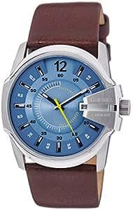 Diesel Herren-Armbanduhr Rund Analog Quarz One Size, blau, braun/blau