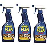 Household Flea Killing Spray Bottle For Cat Dog Carpet Soft Furniture Bed 500ml (PACK OF 3)