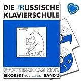 La Escuela De Piano Ruso de banda 2-Con 2CDs y con Bunter herzförmiger-Partituras sik2354a-9783935196918