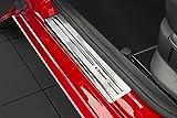 Tuning-Art EX116 Edelstahl Einstiegsleisten Set mit Abkantung Exclusive Schriftzüge