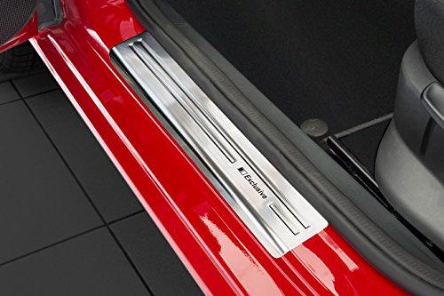 Preisvergleich Produktbild Tuning-Art EX116 Edelstahl Einstiegsleisten Set mit Abkantung Exclusive Schriftzüge
