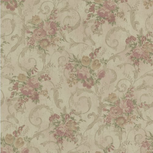 BHF 987–56585Liliana Tapete mit Blumen–Pink (Blume Liliana)