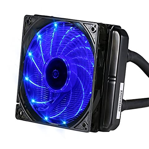 LESHP Radiateur CPU Kit Radiateur liquide eau Cooler Bureau Boîte de l'Ordinateur 120x120x25mm Ventilateur Puissant refroidissement Compatibilité pour INTEL et AMD Prises