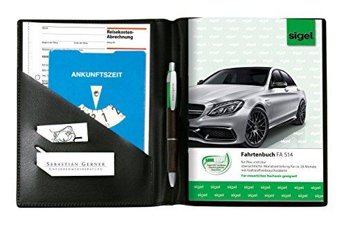 Preisvergleich Produktbild Sigel EF510 Einband für Formularbücher A5, mit Einstecktaschen und Stifthalter, schwarz