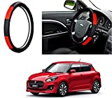 #9: Auto Pearl - Adinox Premium Quality Ring Type Car Steering Wheel Cover (Gold Blaze Black N Red) For -Maruti Suzuki Swift 2018