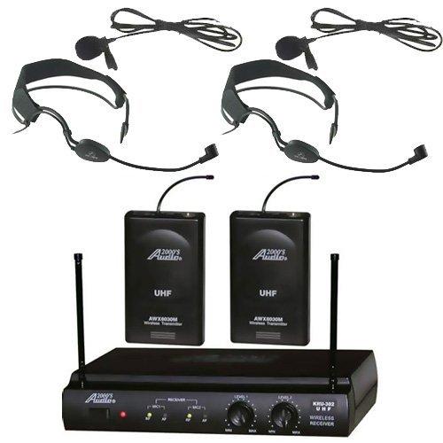 audio2000s-6032uf-uhf-doble-canal-auricular-inalambrico-con-microfono-diadema-con-dos-y-dos-lavalier