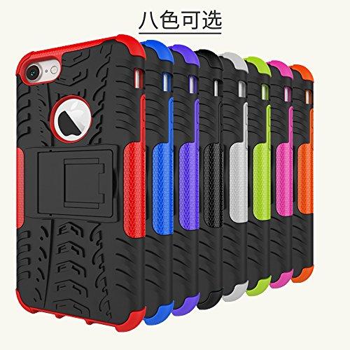 DBIT iPhone 7 / iPhone 8 Custodia, Alta qualità Durevole TPU/PC Custodia protettivo Armatura Case con cavalletto per iPhone 7 / iPhone 8,Arancione Bianco