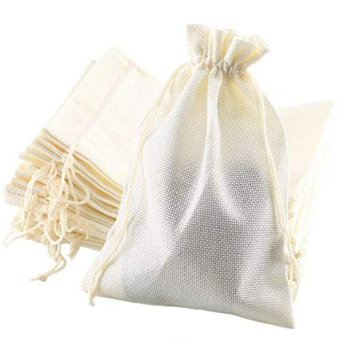 LifeKrafts Linen Pouches ChristmasBirthday Party Favour Gifts Bags For Return BagsSIZE 4 4inches10 10cms Pack Of 30 Potlis Wedding