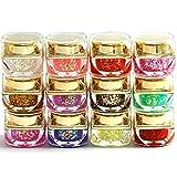 12 couleur Gel UV Nail Art Starter nacré pailleté scintillement pour art ongles manucure