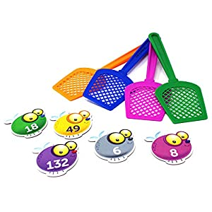 Learning Resources- Juego para Practicar Las Tablas de multiplicar con matamoscas, Color (LSP3053UK)
