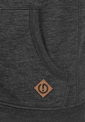 SOLID Vitu Herren Kapuzenpullover Hoodie Sweatshirt aus 100% Baumwolle Meliert Med Grey (8254)