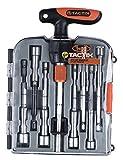 Tactix 900244Nussschraubendreher-Set, T-Griff