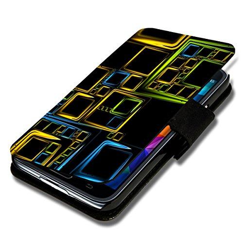 Book Style Flip Handy Tasche Case Schutz Hülle Schale Motiv Etui für Wiko Stairway - Flip 1A46 Design6