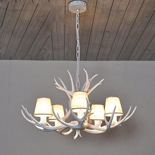 Moderne Mediterrane Kronleuchter (Moderne Retro Geweih Kronleuchter/American Geweih Kronleuchter Wohnzimmer Beleuchtung Geweih Lampe Kunst Mediterrane Persönlichkeit Nordic Industrie Wind Dekorative Lichter (E14 Lampensockel) XXPP)