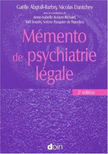 Mémento de psychiatrie légale par Gaëlle Abgrall-Barbry