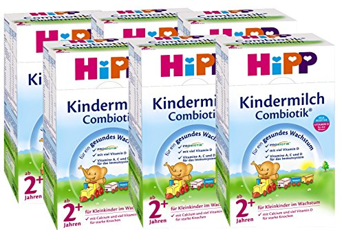 Hipp Kindermilch Combiotik 2+, ab dem 2. Jahr, 6er Pack (6 x 600g)