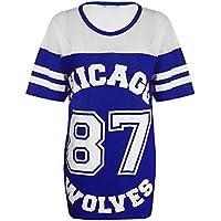 Donna Chicago 87lupi lungo maglia oversize Baseball