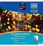 Guirlande lumineuse 300 lucioles Multicolore 12 Mètres d'éclairage 8 jeux de lumière
