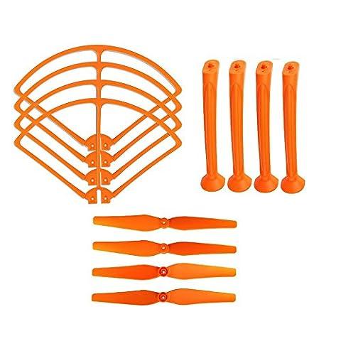 Coolplay® Syma Orange Main Blades & Landing Skids & Frame Spare Parts for Syma X8 X8C X8W 2.4G RC Quadcopter