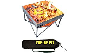 Campfire Defender Protect Preserve Portable Outdoor Fire Pit and BBQ Grill | Packs Down Smaller than a Tent