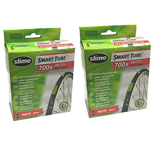 Slime Smart Tube selbst Heilung 700C x 28-32Presta Schläuche (2Stück)