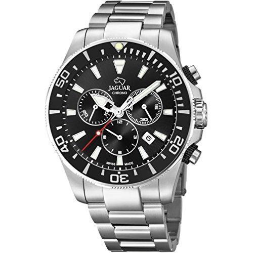 Uhr Jaguar Ritter Crono Executive Stahl schwarzes Zifferblatt