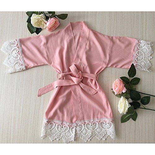 Blush Pink Girl Robe - Baby Robe encaje