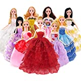 Baokee®10PC Barbie Fashion Dress Mix Match Doll Accessories for Baby Girl